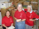Book Fair Chairmen, Agnes Ward, Fran Day, & Carole Kronenberg.