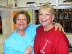 Ethel Knarr and Linda Alexander on the first day of Book Fair, November 5.