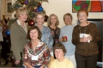 Guest Day Hostesses L to R Sandie Propst, Liz Snider, Sandra Green, Carol Cushman, Lynne Short, and front L to R Donna F